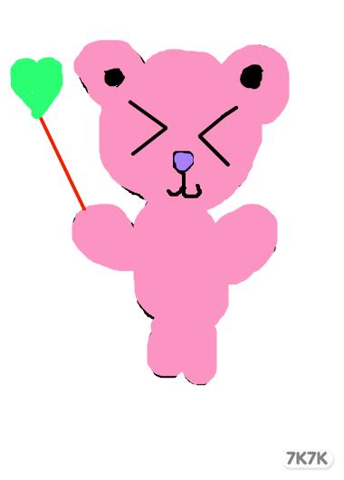 可爱小甜心-粉色小熊