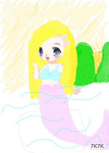 涂鸦馆-黑暗中哭的小女孩-手绘作品