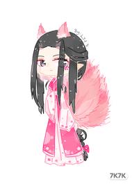 【原创】【板绘】【失踪人口回归】<br />咳咳,好久不见,我又回来了(✿◡‿◡)<br />是新创的自家oc,是个男孩子,虽是狐妖但是洁身自傲容易害羞。<br />能力是樱。