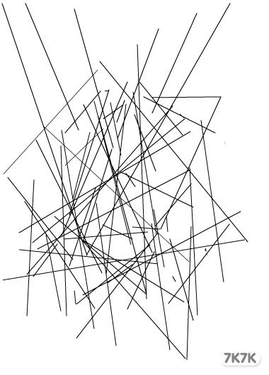 中班幼儿绘画蜘蛛网作品