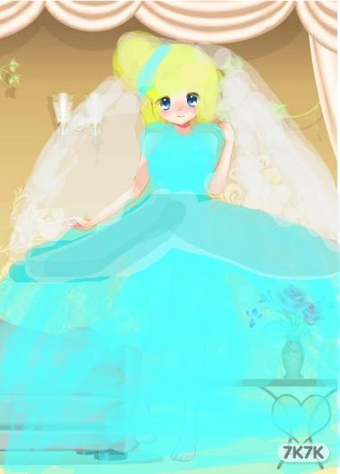 涂鸦馆-爱丽儿公主-手绘作品