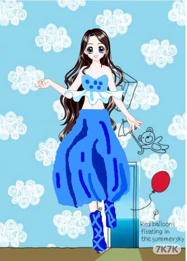 涂鸦馆-蓝海妖-手绘作品