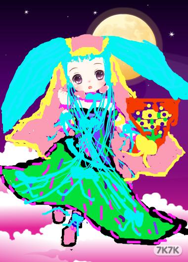涂鸦馆-双子座贝贝公主和雅雅公主-手绘作品