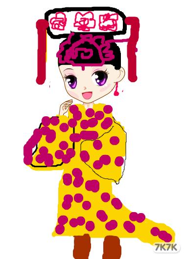现代小公主 -涂鸦馆 张佳敏 手绘作品