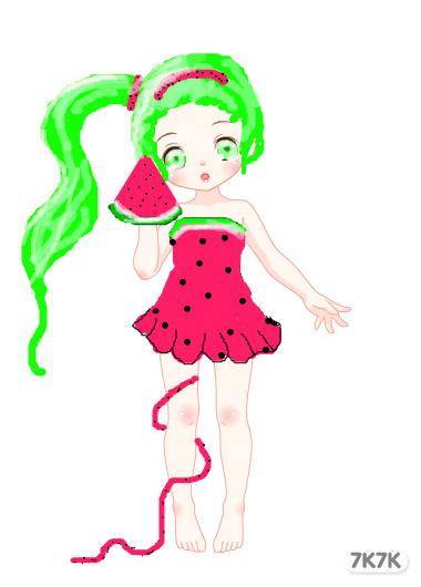 采蘑菇的小姑娘间笔画展示