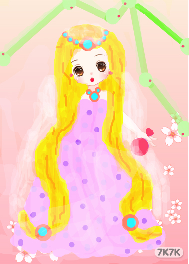 梦幻公主-嗯,我是新手,画的不怎么样,请多多体谅.