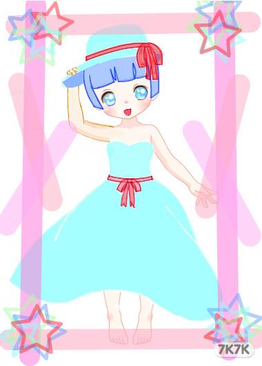 涂鸦馆-可爱小公主-手绘作品