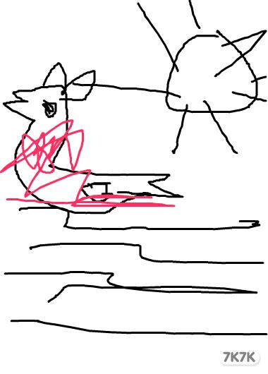 鹅乌莱花 画画