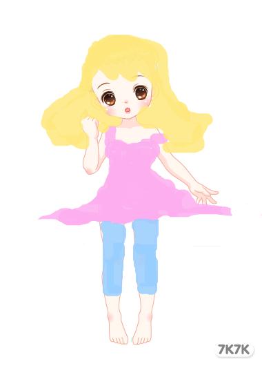 文静美少女手绘