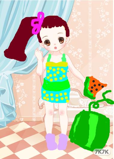 杜湘-小可爱吃西瓜