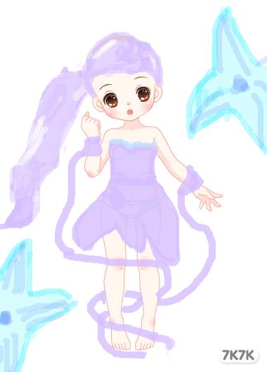 可爱画画公主图片