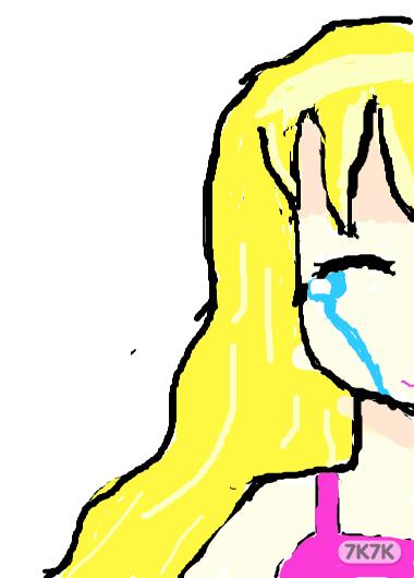 笑着流泪的手绘图