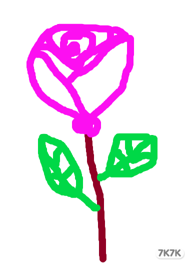 火女-玫瑰花.