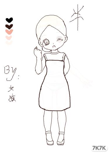 可爱小公主简笔画图片大全