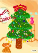 简单小客厅,只看圣诞树吧!