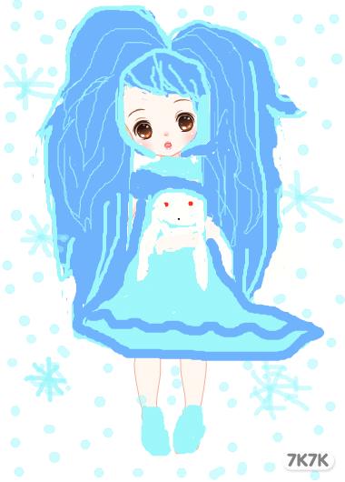 动漫娃娃好看的女生的手绘图