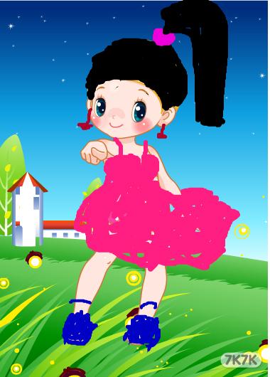 玉龙珠-可爱的小女孩