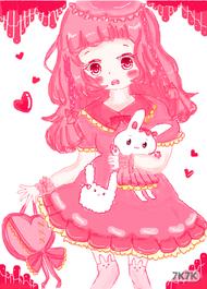 我真的超喜欢粉红色❤<br />这里崽崽❤
