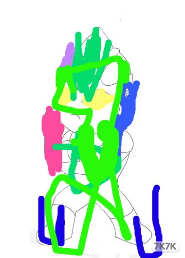 奥特曼简笔画涂鸦
