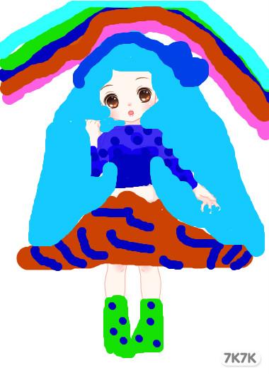 幼儿园女孩作品图片