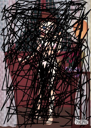手绘3d蜘蛛步骤大图