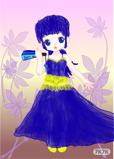 露娜紫霞图片手绘