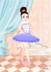跳着芭蕾舞的美丽少女