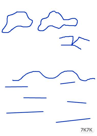海鸥黑白矢量图