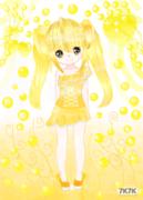 画了好几天累屎了~大家喜欢黄色吗?希望大家祝我的精喵~~