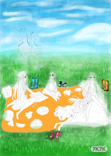 涂鸦馆-姊妹-党-手绘作品
