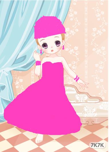 女生粉色系照片手绘