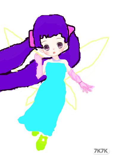 动漫长裙舞者手绘图片