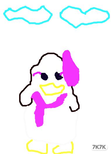 涂鸦黑白企鹅头像
