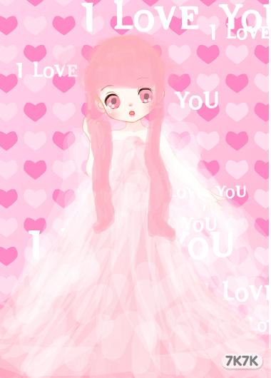 21721000-粉色婚纱