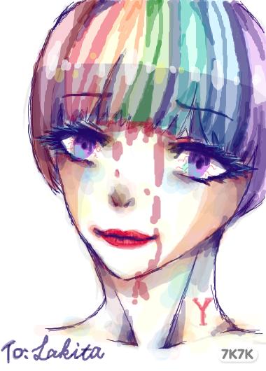 涂鸦馆-林天山雪莲-手绘作品