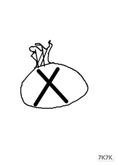 袋子手绘画作品
