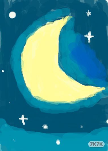 月亮图片唯美手绘