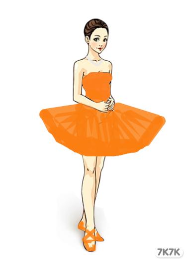 手绘舞者彩色图片