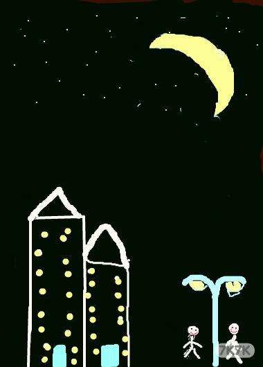 涂鸦馆-萤火虫-手绘作品