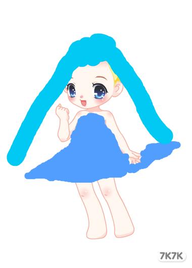 1529198843-可爱小公主_乐乐简笔画