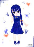 【临摹】【软】【参赛爱心,虽然和主题不符合】紫色*3是不是太难看没人要QAQ编编球精【啊喂眼睛可以不粗来了莫!