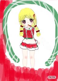 这个...风格画错了,因为突然想起了圣诞节嘛,就不由自主的画了下来