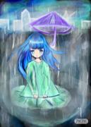 致雨景一幅