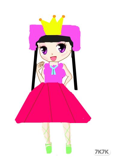 手绘卡通小公主