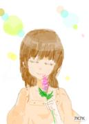 女孩儿与薰衣草