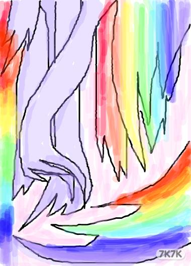 关于母爱的手绘图彩色