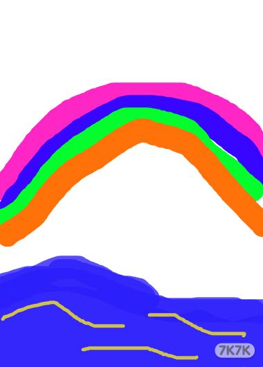 彩虹简笔画步骤图