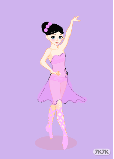 手绘芭蕾舞蹈者