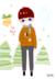 by桃子   to冬天冻成狗的朋友<br />【学校里有一个戴圆形眼镜的男生炒鸡帅,就画了一个戴眼镜的小正太。。。】