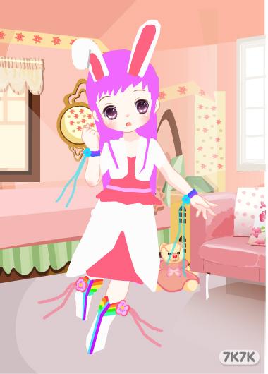可爱小兔公主头像